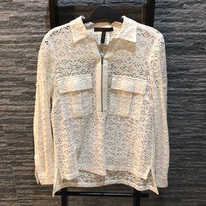 BCBG Maxazria all Lace blouse